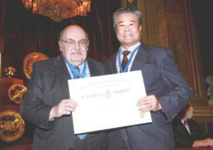Tay Thye Sun receiving honorary FGA